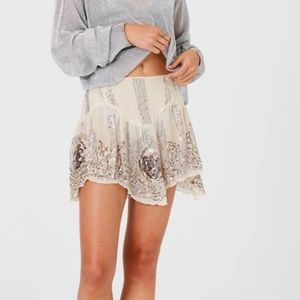 Jen's Pirate Booty Celestine Mini Skirt XS Sequin